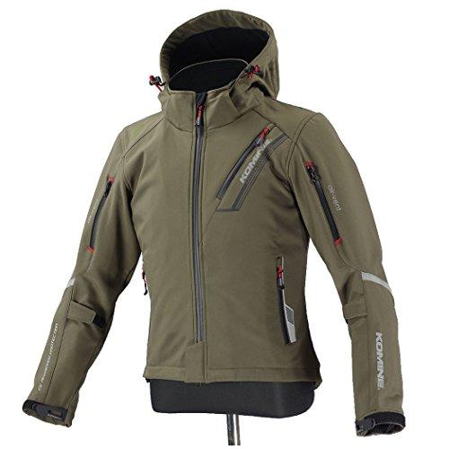 コミネ(Komine) ジャケット JK-579 プロテクトソフトシェル ウインターパーカ-IFU(イフ) ディープオリーブ L 07-579