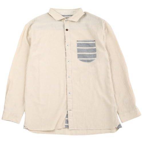 (スリッピンアンドスライディン)SLIPPIN AND SLIDIN ガーゼシャンブレーワイド衿シャツ(BIG) 3,307,103 06 オフシロ 6L