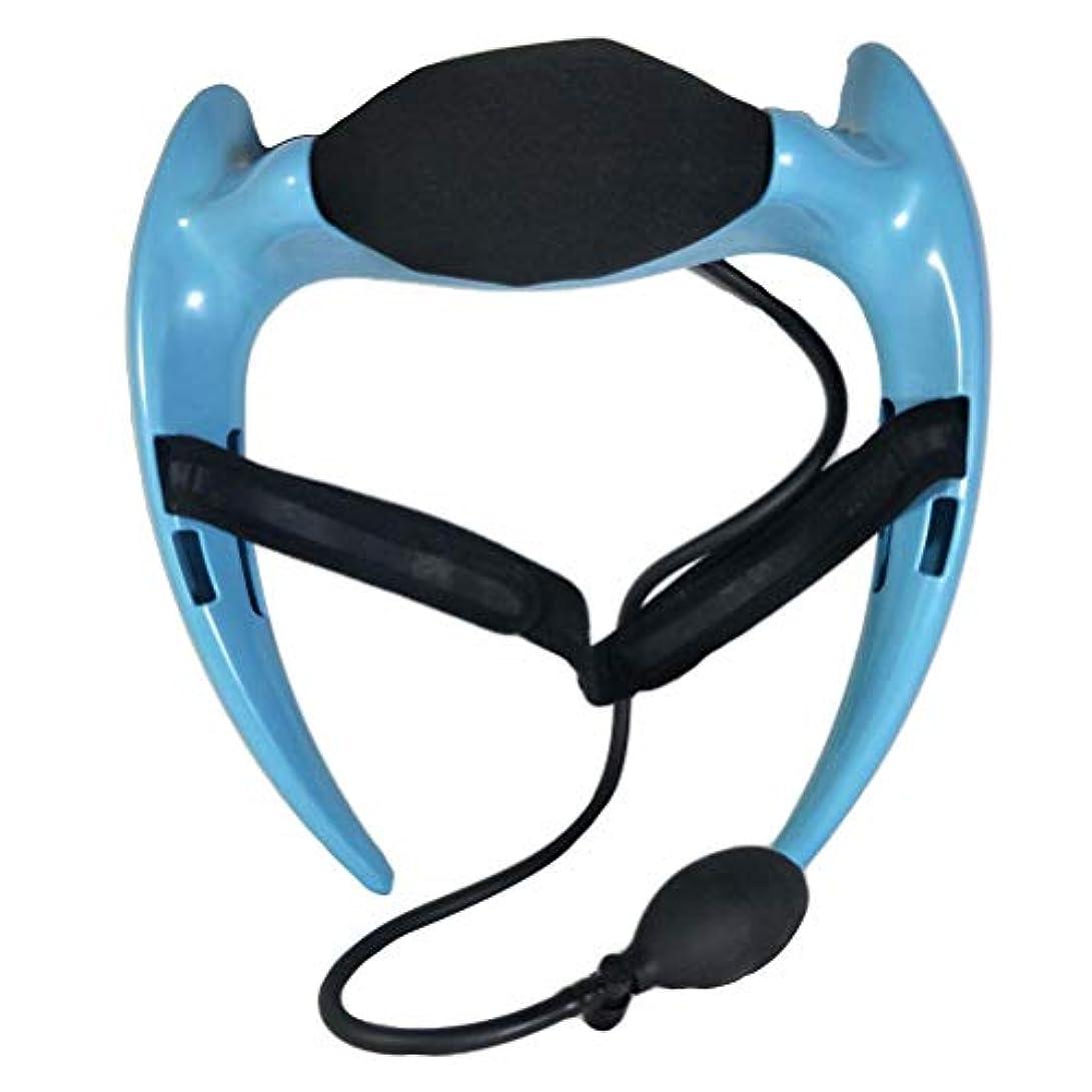 タブレット微視的高層ビルHealifty 首のけん引力調節可能な通気性の首サポートブレースネック首の首の襟首の首の痛みを和らげるリハビリ傷害回復(ブルー)
