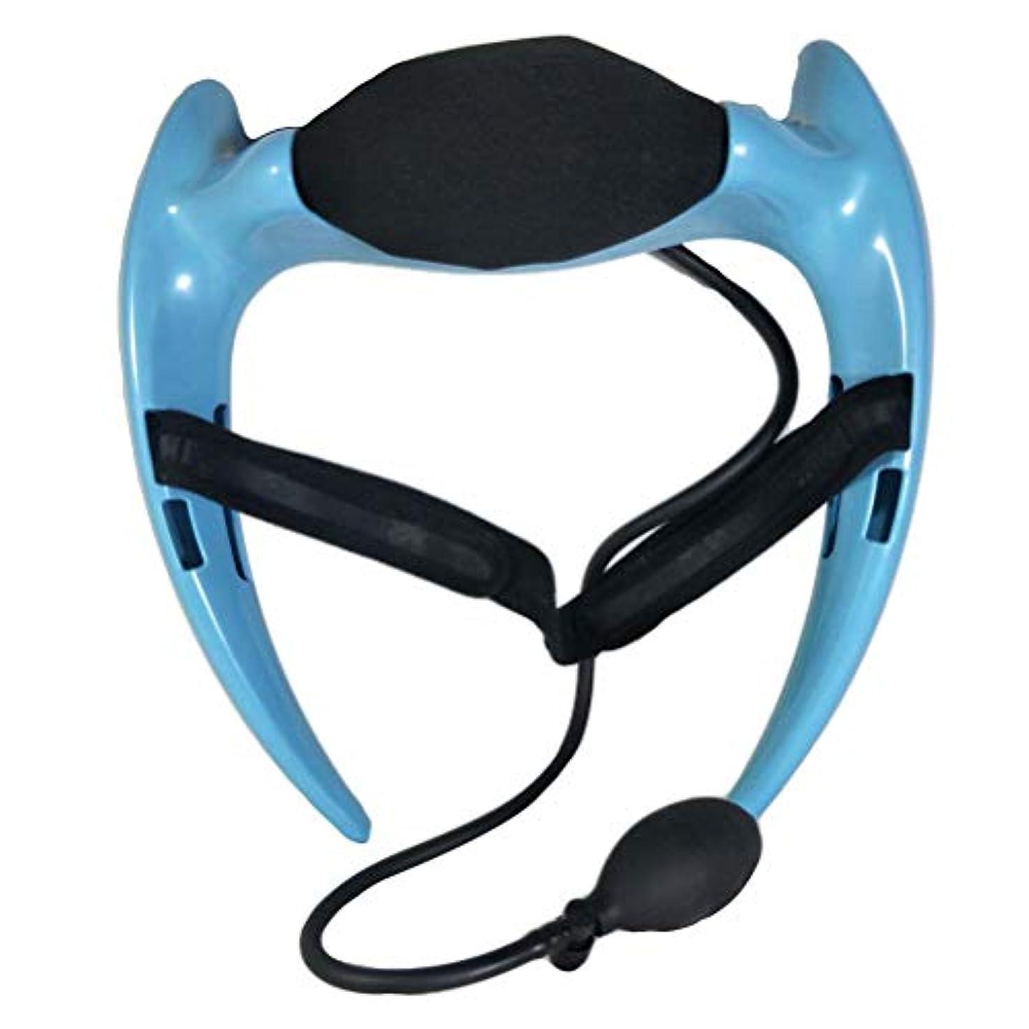 レンダー半ば正確なHealifty 首のけん引力調節可能な通気性の首サポートブレースネック首の首の襟首の首の痛みを和らげるリハビリ傷害回復(ブルー)