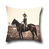 Pillowcover Of Oil Painting Roger Fenton - Major Gen.l Sir George Buller, K.C.B.,for Saloon,kids Girls,club,car Seat,wedding,floor 18 X 18 Inches / 45 By 45 Cm(double Sides)