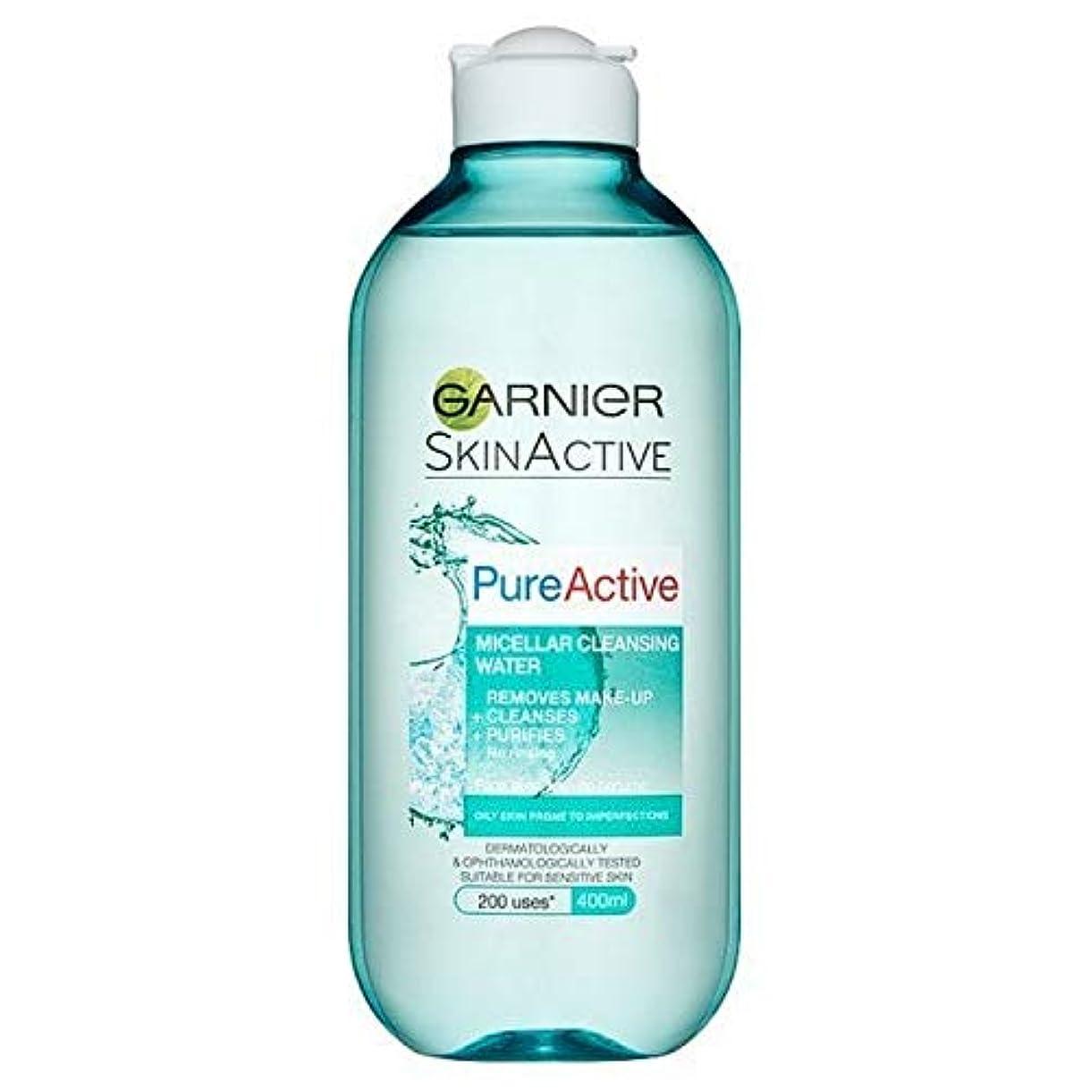 スタジアム入浴ねじれ[Garnier ] 純粋な活性ミセル水脂性肌用400ミリリットル - Pure Active Micellar Water Oily Skin 400ml [並行輸入品]