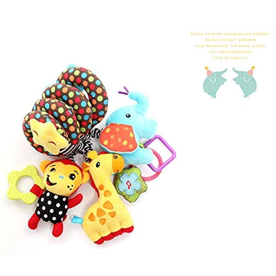 塩アラブサラボ風ガラガラリングペーパーBBデバイス幼児教育玩具と猿の象のベッド巻き