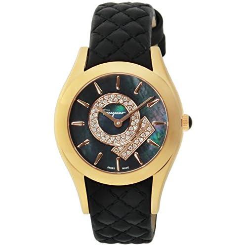 [サルヴァトーレ・フェラガモ]Salvatore Ferragamo 腕時計 LIRICA ブラックパール文字盤 FG4030014 レディース 【並行輸入品】