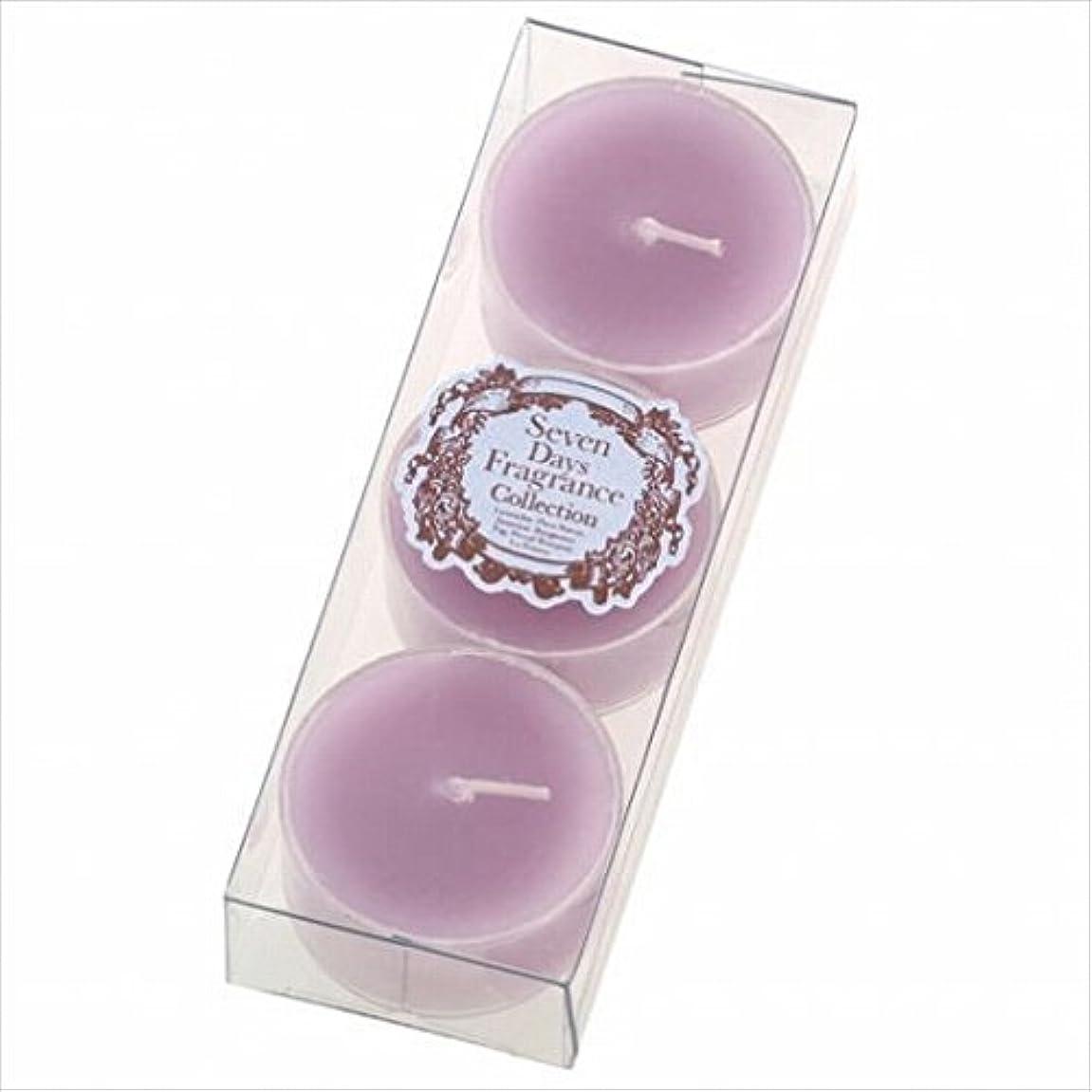 置くためにパック安価な炎上カメヤマキャンドル(kameyama candle) セブンデイズティーライト3個入り(日曜日) 「 ラベンダー 」