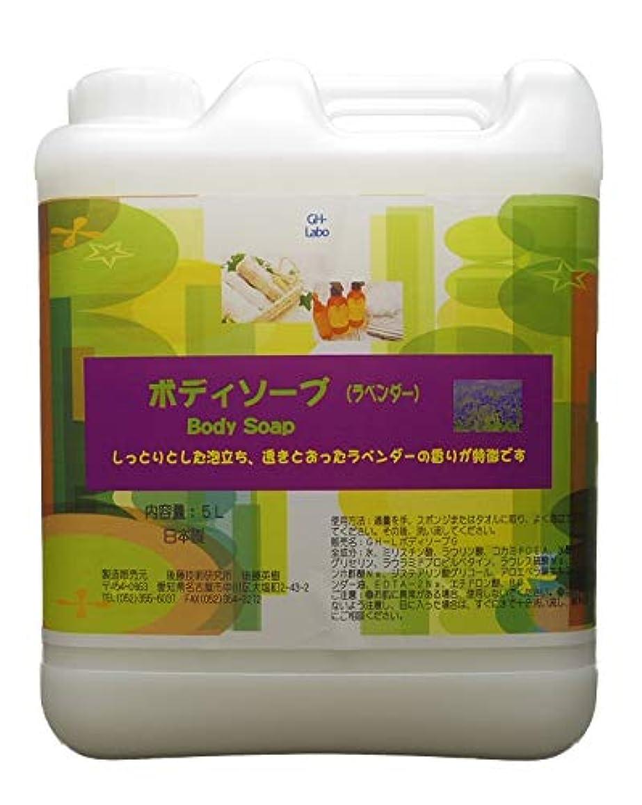 収まる説教刺すGH-Labo 業務用ボディソープ ラベンダーの香り 5L