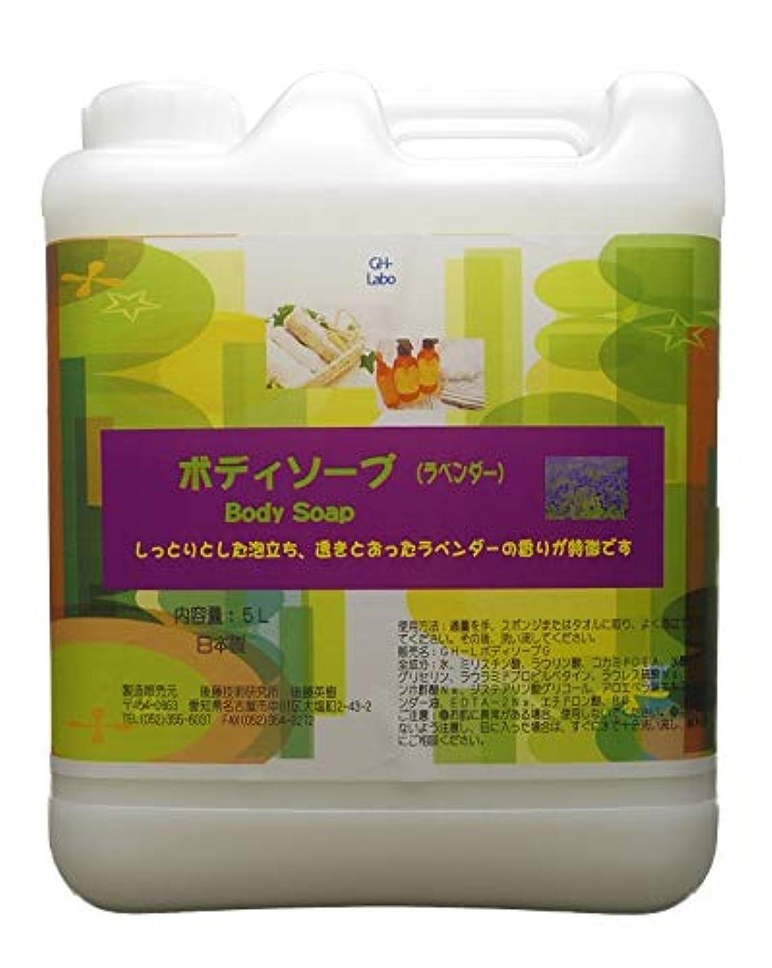 オート巨大な楽観的GH-Labo 業務用ボディソープ ラベンダーの香り 5L