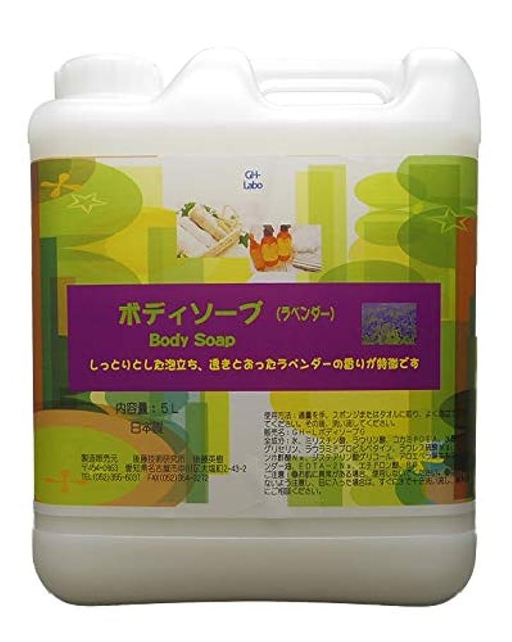 憂鬱自分組み合わせGH-Labo 業務用ボディソープ ラベンダーの香り 5L