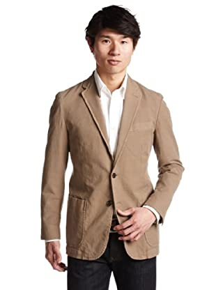 Overdyed Stretch Cotton 2 Patch Pocket Jacket 3122-199-0212: Brown