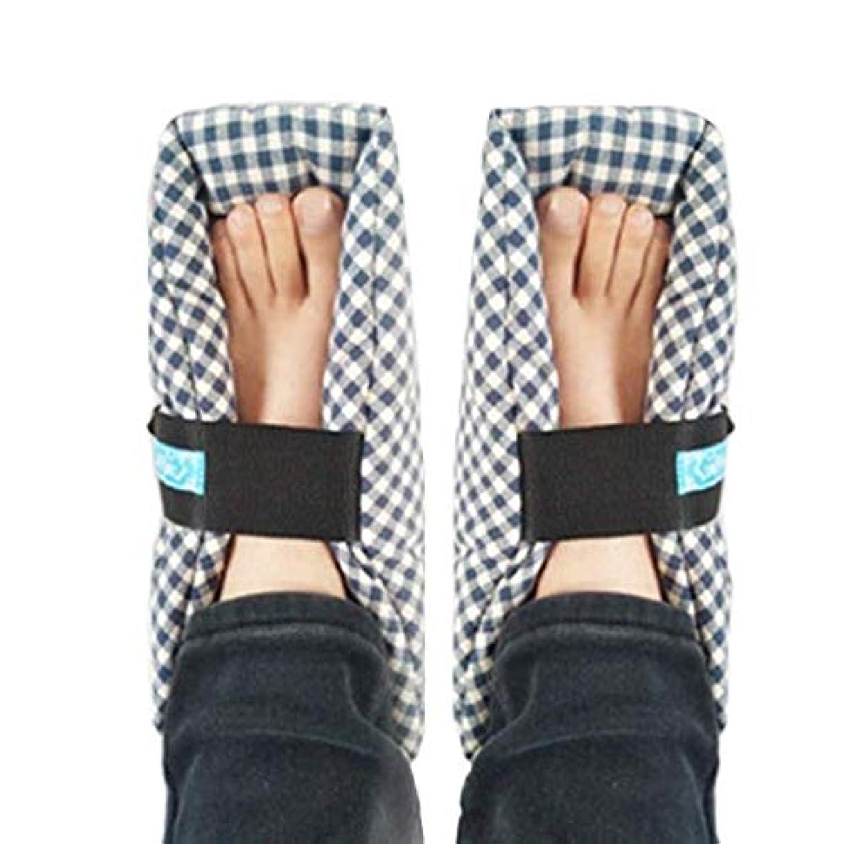 味付け誠意単位TONGSH 足枕、かかとプロテクター、かかとクッション、かかと保護、効果的な、瘡およびかかと潰瘍の救済、腫れた足に最適、快適なかかと保護足枕、1組、格子縞
