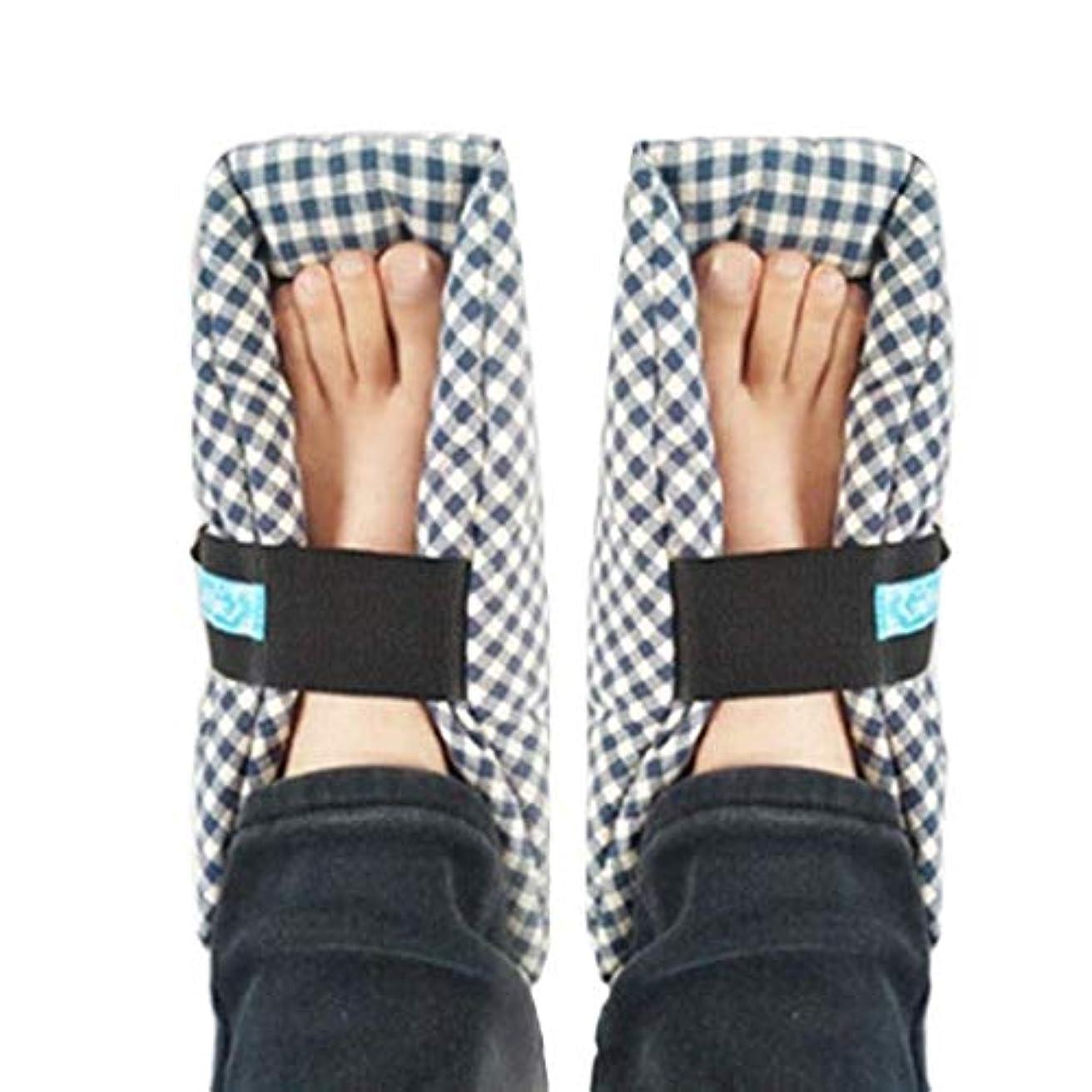 居心地の良い部分的に自分を引き上げるTONGSH 足枕、かかとプロテクター、かかとクッション、かかと保護、効果的な、瘡およびかかと潰瘍の救済、腫れた足に最適、快適なかかと保護足枕、1組、格子縞