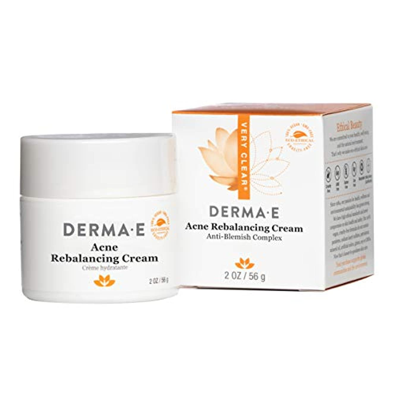 崩壊取り戻す仲介者Derma E Very Clear Moisturizing Cream 56g/2oz並行輸入品
