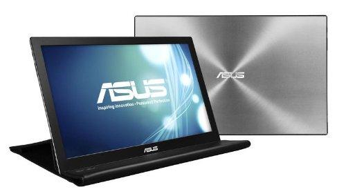 ASUS 薄い・軽量、USBで簡単接続、15.6型WXGA モバイルディスプレイ ( 厚さ8mm / 重さ800g / 1,366×768 / USB3.0 / ノングレア / 3年保証 ) MB168B