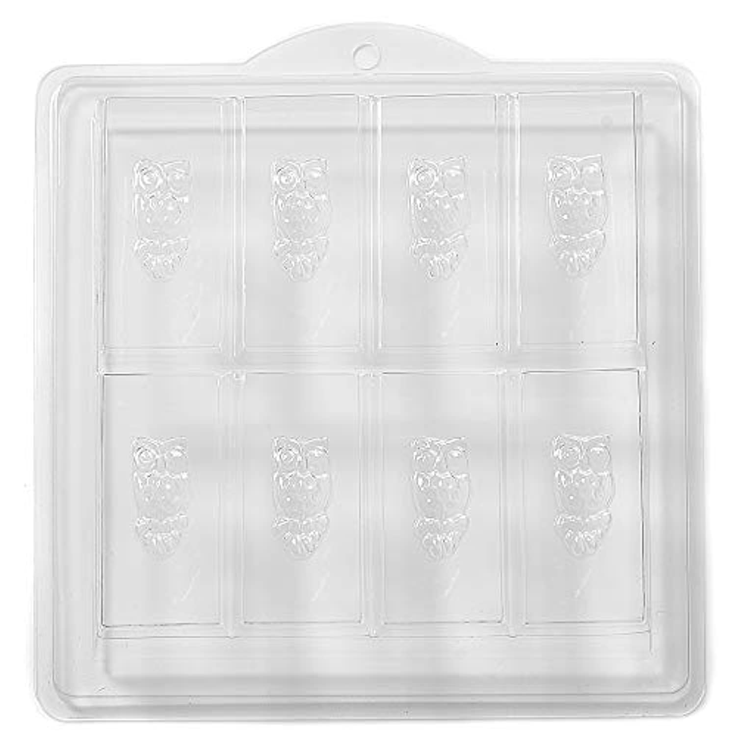 8 Cavity Owl Embossed On Rectangle Soap/Bath Bomb Mould Mold H02 x 5
