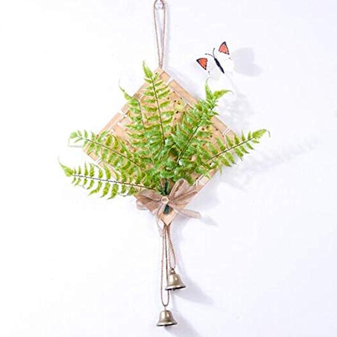 オートマトン質素な有望Chengjinxiang 風チャイム、クリエイティブ?竹風チャイム、白、幅28.5cmくらい,クリエイティブギフト (Color : Green)