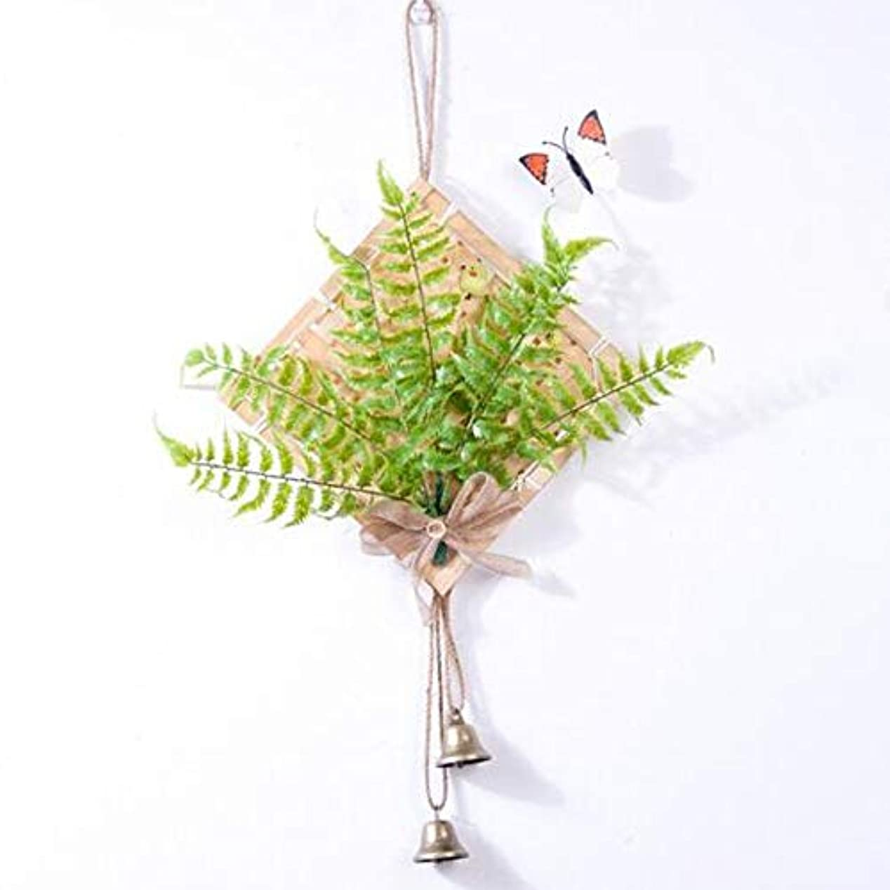 取る幾何学胸Jingfengtongxun 風チャイム、クリエイティブ?竹風チャイム、白、幅28.5cmくらい,スタイリッシュなホリデーギフト (Color : Green)