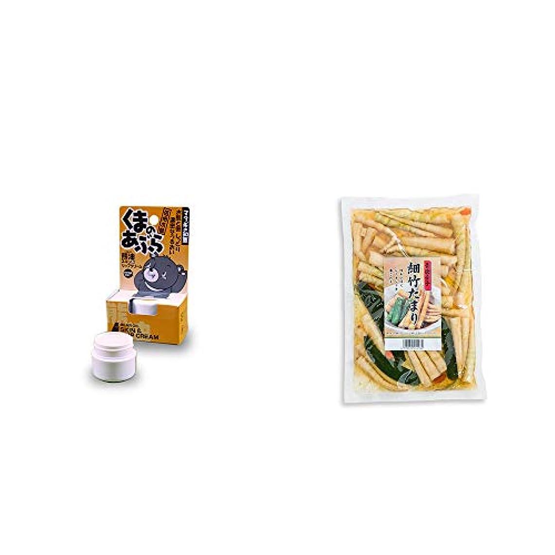 滅びるどうやら葉っぱ[2点セット] 信州木曽 くまのあぶら 熊油スキン&リップクリーム(9g)?青唐辛子 細竹たまり(330g)