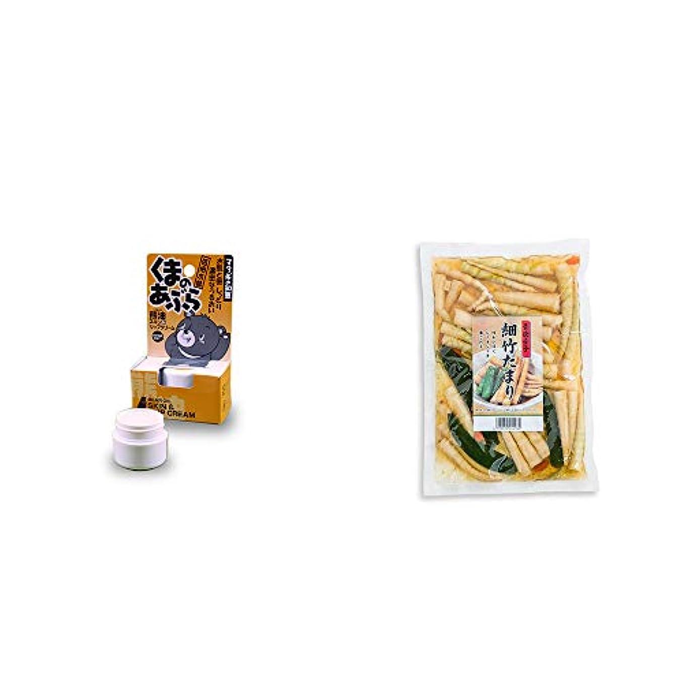 やめる動力学アサー[2点セット] 信州木曽 くまのあぶら 熊油スキン&リップクリーム(9g)?青唐辛子 細竹たまり(330g)
