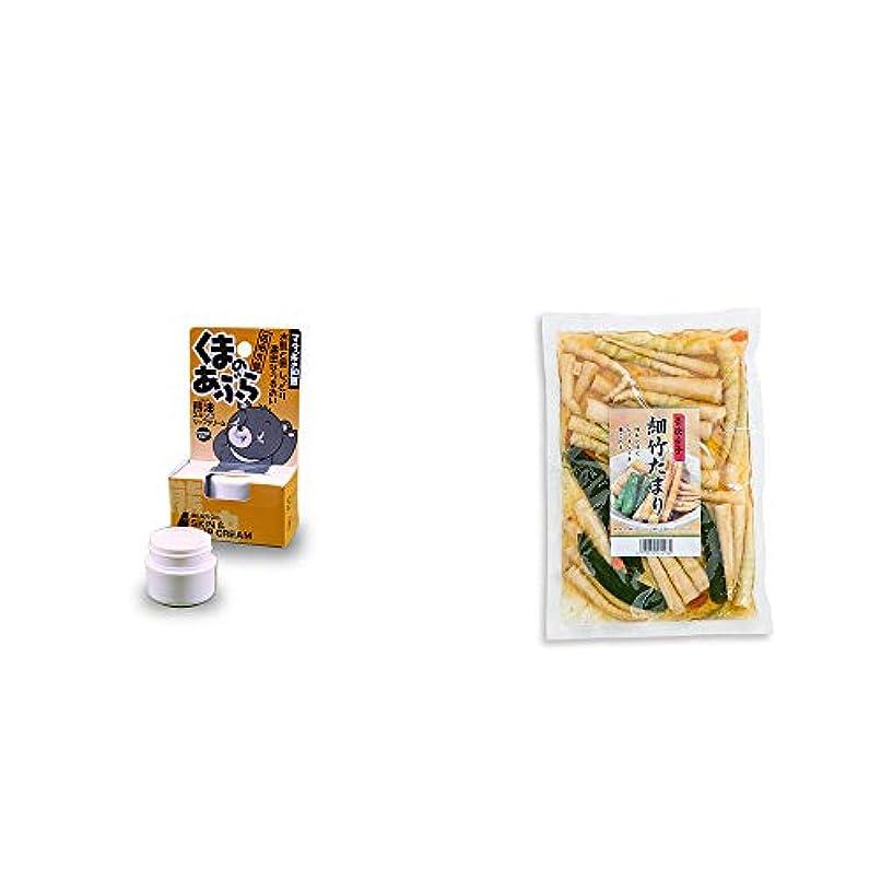 チラチラする図ピーク[2点セット] 信州木曽 くまのあぶら 熊油スキン&リップクリーム(9g)?青唐辛子 細竹たまり(330g)