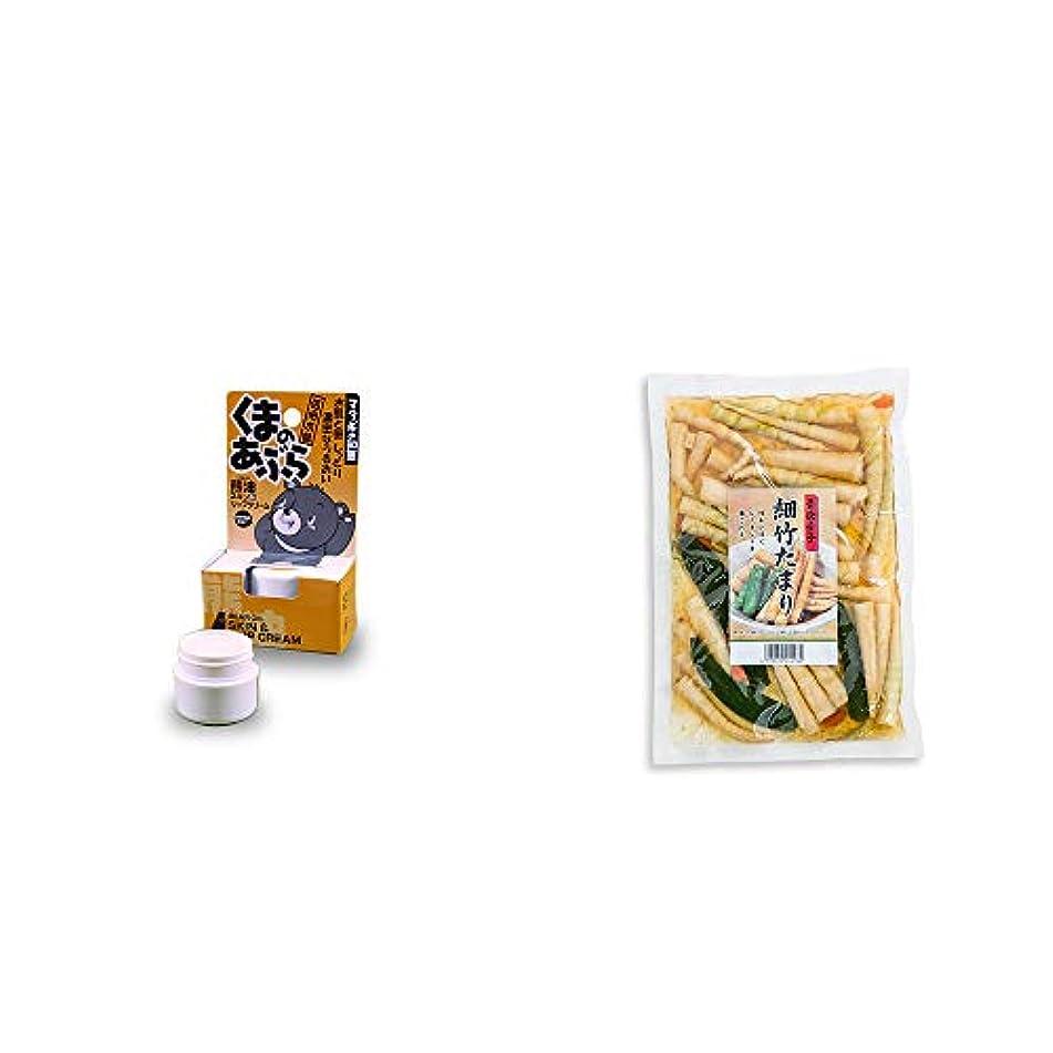 [2点セット] 信州木曽 くまのあぶら 熊油スキン&リップクリーム(9g)?青唐辛子 細竹たまり(330g)