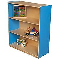 Wood Designs Kids Play Toy Book合板オーガナイザーwd12942bブルーベリー本棚、42