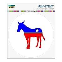 民主党ドンキーリベラルアメリカ政党自動車用車窓ロッカーサークルバンパーステッカー