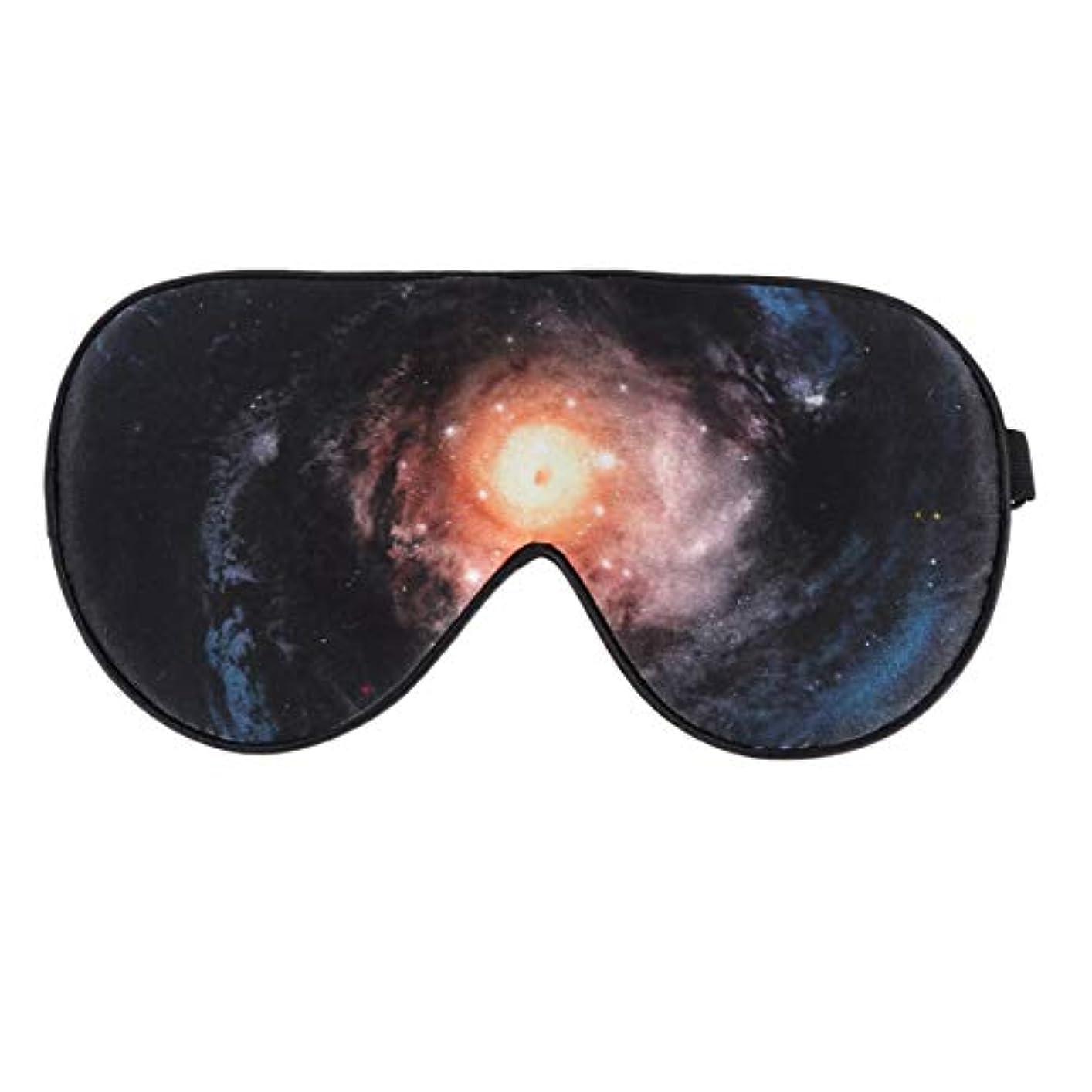 ここに車両パンSUPVOX 睡眠マスクシルクアイマスクソフト弾性ストラップ星空パターン睡眠睡眠昼寝旅行用ポータブル