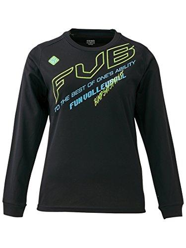[해외]이구니오 (IGNIO) 배구 여성 긴팔 T 셔츠 (IG-8VW2526LT) 블랙 X 옐로우 그린 O (LL)/Ignio (IGNIO) Volleyball Women`s Long Sleeve T-shirt (IG-8VW2526LT) Black X Yellow Green O (LL)
