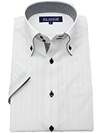 (ブルーム) BLOOM 2018夏 オリジナル 半袖 ワイシャツ クールビズ yシャツ S/M/L/LL/3L/4L/5L/6L 10柄 形態安定加工 ボタンダウン