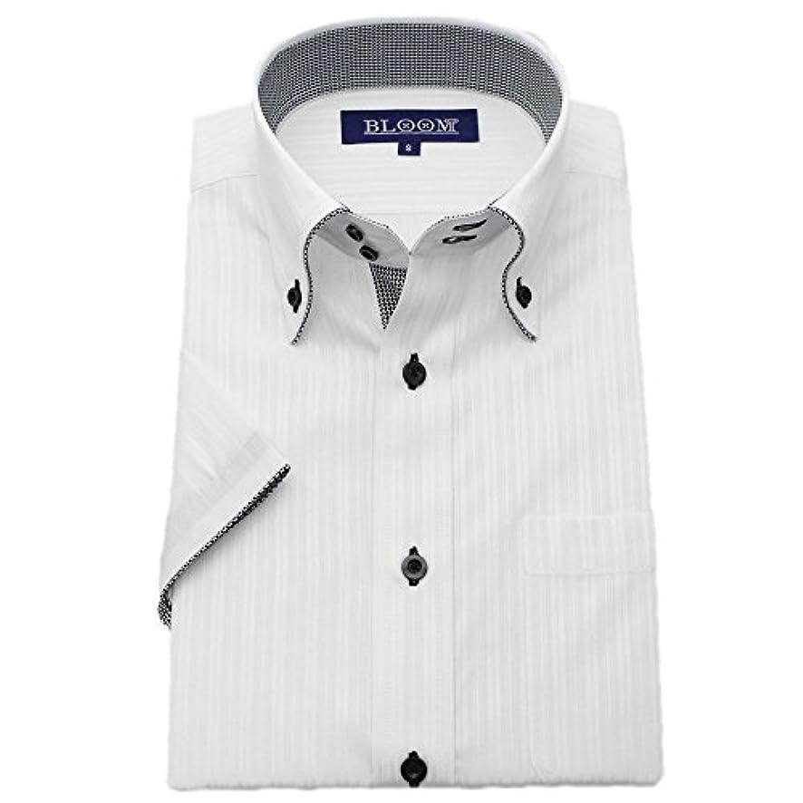 実装するカップル情熱(ブルーム) BLOOM 2018夏 オリジナル 半袖 ワイシャツ クールビズ yシャツ S/M/L/LL/3L/4L/5L/6L 10柄 形態安定加工 ボタンダウン