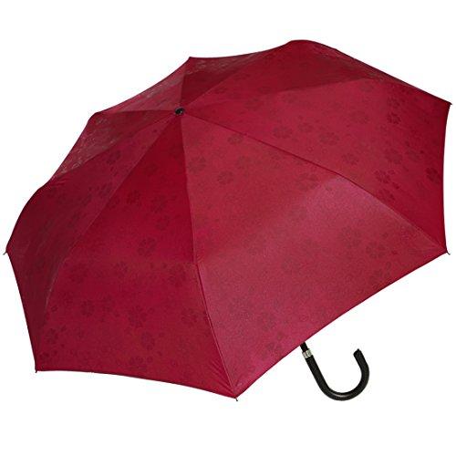 京都花舞妓 浮き桜 「雨に濡れると桜柄が浮き出る」 三段式 折りたたみ傘 エンジ