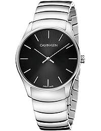 [カルバンクライン]CALVIN KLEIN 腕時計 Classic Too(クラシック トゥー) 2針 シルバー×ブラック K4D2114V メンズ 【正規輸入品】
