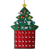 クリスマスツリーアドベントカレンダー  カウントダウンデコレーション フェルトクリスマスツリー  壁掛けツリー