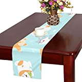 GGSXD テーブルランナー すばやい 柴犬 クロス 食卓カバー 麻綿製 欧米 おしゃれ 16 Inch X 72 Inch (40cm X 182cm) キッチン ダイニング ホーム デコレーション モダン リビング 洗える