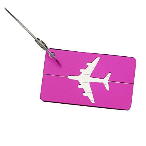 YideaHome 荷物タグ 金属IDタグ スーツケースベルト・ネームタグ バッグ用ネームタグ 旅行用品 トラベルバッグタグ お名前/住所/電話番号/メッセージなど 全7色