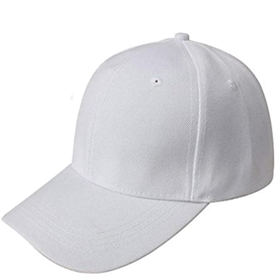 オゾンワームインタネットを見るFranterd空白帽子ソリッドカラー調整可能野球帽子