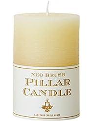 カメヤマキャンドル(kameyama candle) ネオブラッシュピラーS キャンドル 「 アイボリー 」