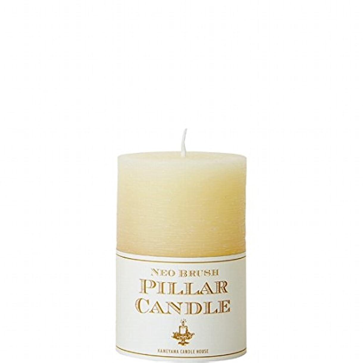 皮肉有料重なるカメヤマキャンドル(kameyama candle) ネオブラッシュピラーS キャンドル 「 アイボリー 」