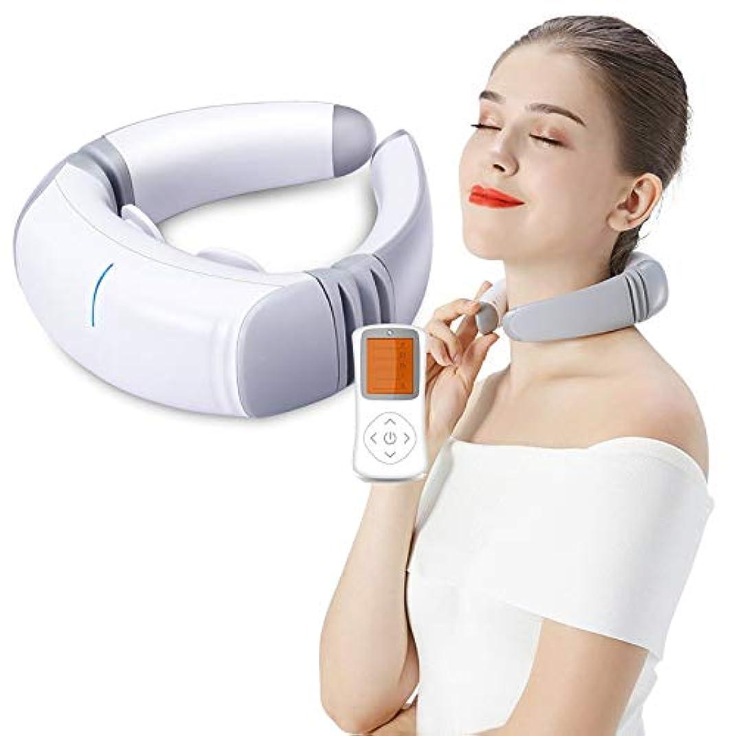 ゼリー表面的なあさり多機能ネックマッサージャーディープティッシュワイヤレス3D混練、子宮頸部マッサージャーホーム電子パルス車、オフィス用
