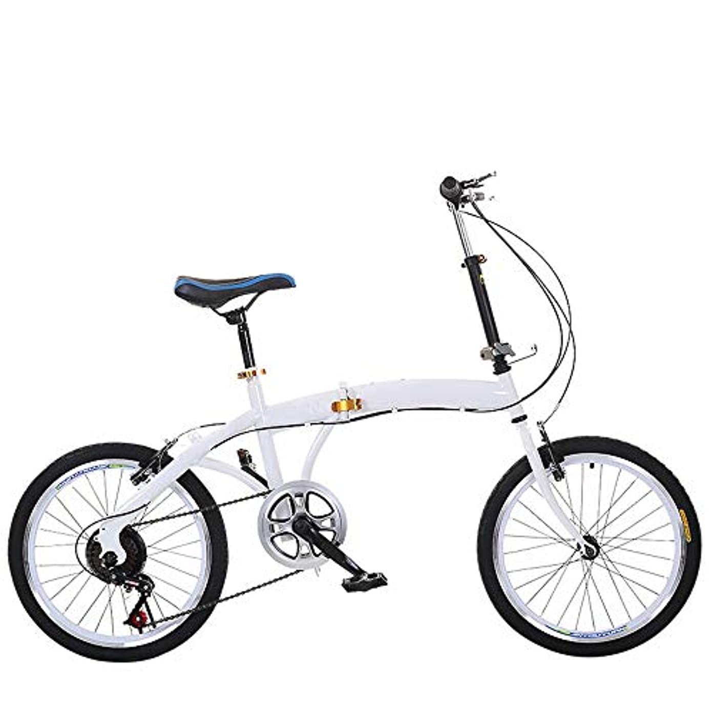 ベリダルセット程度可変速度大人の折りたたみ自転車で20インチ折りたたみ自転車(ホワイト)