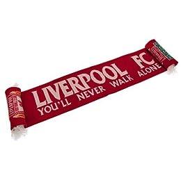Liverpool F.C. リバプールFC LFCレッドクレストスカーフ公式 4 1/2 フィート 赤