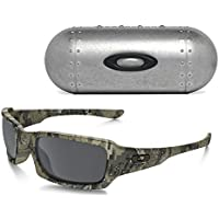 Oakley Fives Squared Sunglasses (Desolve Bare Camo) Large Metal Vault Case (Silver)