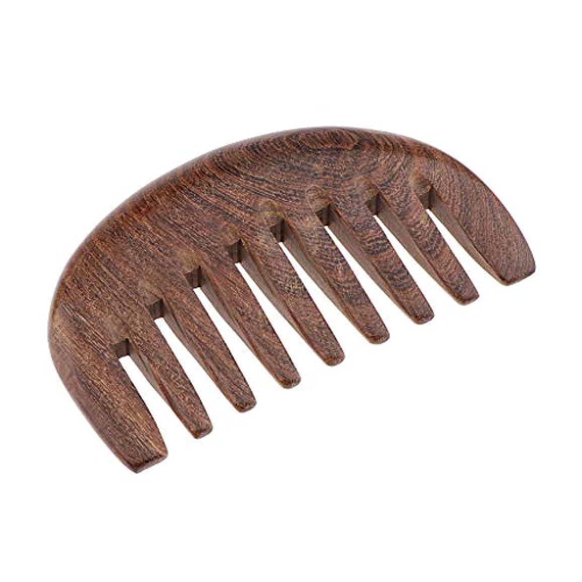申し立てトチの実の木換気木製櫛 ヘアブラシ 帯電防止櫛 人間工学 3色選べ - クロロフォラ