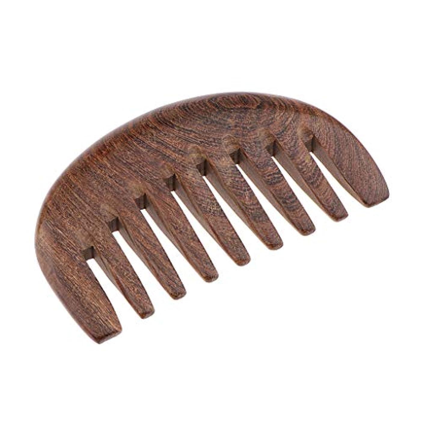 マーケティング摂氏シルエットB Blesiya 木製櫛 ヘアブラシ 帯電防止櫛 人間工学 3色選べ - クロロフォラ