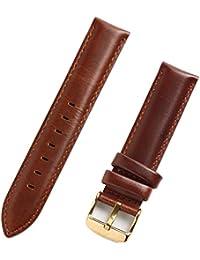 お持ちの時計をお洒落にカスタマイズ♪ ダニエル対応 高品質 替えベルト レザーベルト ブラウン ベルト幅18mm
