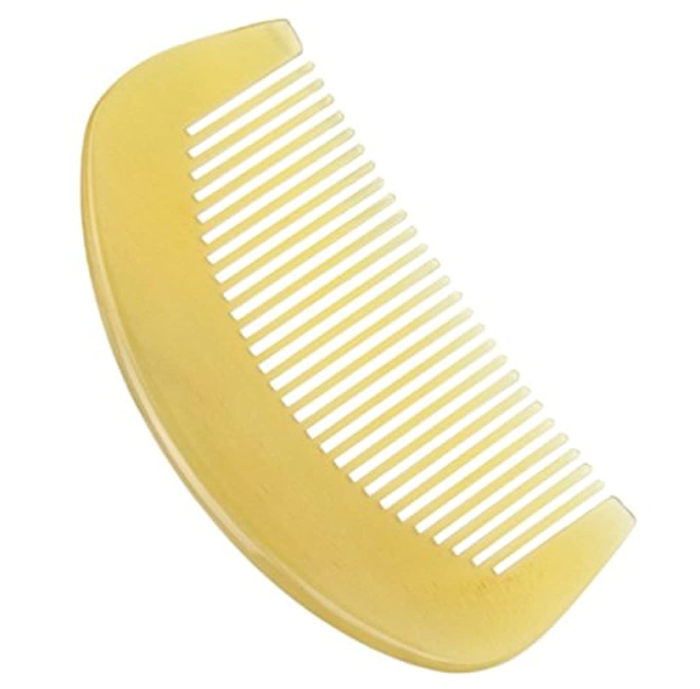 辞書セラフ野ウサギプロも使う羊角かっさプレート 羊櫛 高級 天然 静電気 防止 美髪 櫛型 (大型)