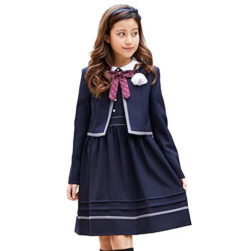 22f95be80320b ショパン(CHOPIN) 8801-2501 クラシックボレロスーツセット(ボレロ ワンピース リボン) 黒 ブラック 140 150 160  165cm 卒業式 スーツ 女の子 .