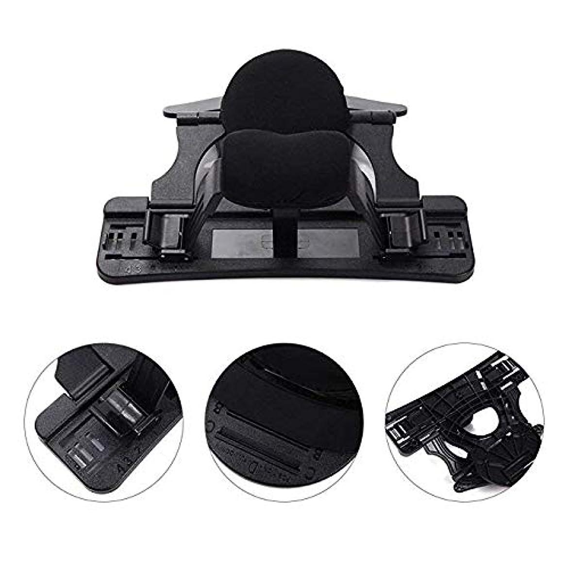 首牽引装置、首のマッサージャーの首の伸張器サポート枕調節可能な理学療法の家の大人の熱い圧縮の首の伸張の首の訂正,黒