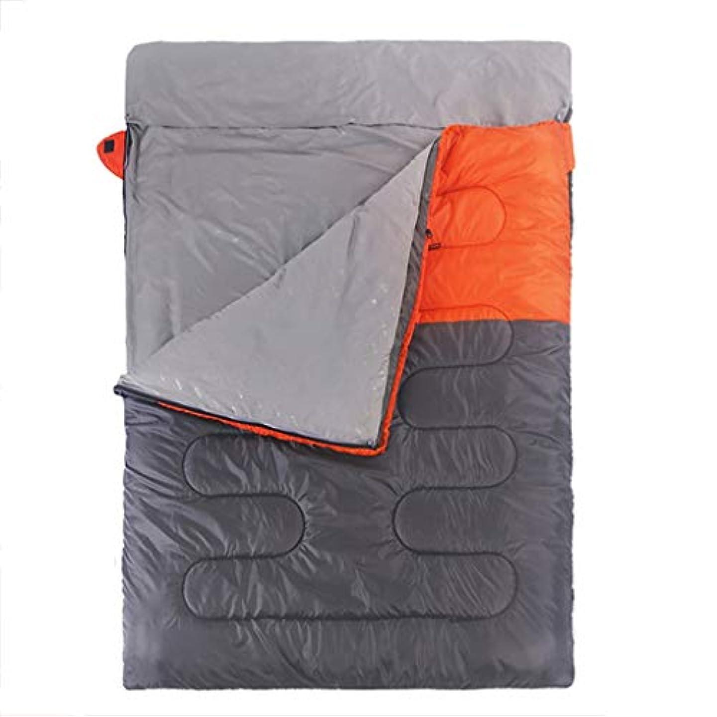 みなさん黒人八百屋さんキャンプの寝袋屋外の寝袋二重寝袋屋内と屋外の厚い暖かいに適した GBYGDQ