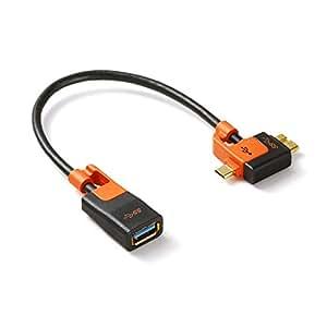 サンワダイレクト OTG対応 USBホストケーブル タブレット スマートフォン対応 microUSB / USB3.0microB 変換-USB機器接続 500-USB035